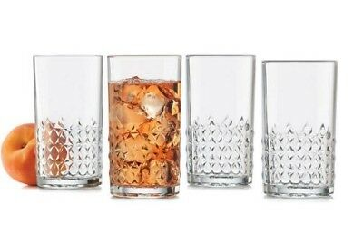 NEW Libbey Harlow High Ball Glass Set of 4