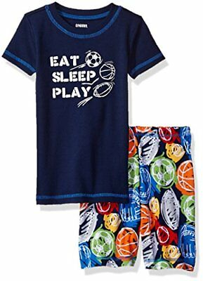 NWT Gymboree Infant Boy Gymmies Eat Sleep Play Sports Theme Pajama Set 6-12 mos