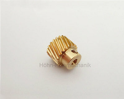 Spur Gear, Gear, 20° Angled Toothed, Module 0,5, from Brass, Z20, Right