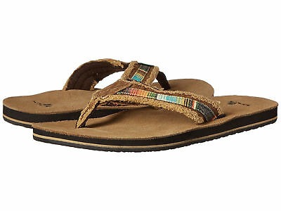 0d509105f3e Men Sanuk Fraid So Canvas Flip Flop Sandal SMS2138 Tan Multi 100% Original  New