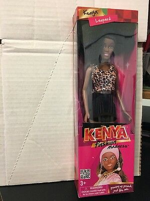 "A Beautiful Doll: Kenya Fashion Madness Leopard NIB, 10"" Doll, 2013"