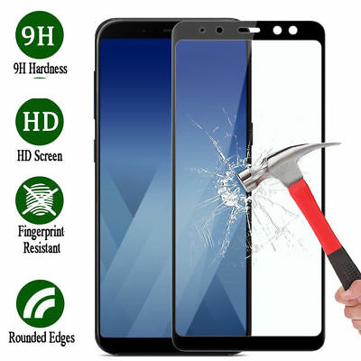 9H HD Tempered Glass Film Full Screen Protector For Samsung Galaxy A8 Plus 2018