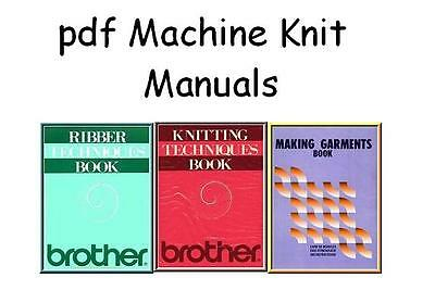 Brother Knitting Machine Ribber Techniques books on DVD