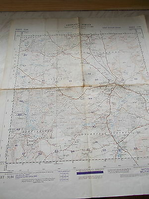 A War Office Ordnance Survey Map Of Part Of Wiltshire Sheet 31/84 - 1st Ed. 1949