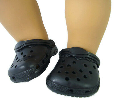 Black Kroc Krocs Clog Summer Shoes For Bitty Baby + Twins Doll Clothes