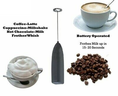 MILK FROTHER IKEA Coffee Latte Hot Chocolate Whisk Frothy Blend Whisker Black UK