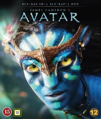 Avatar 3D + 2D Blu Ray + DVD (Region B)