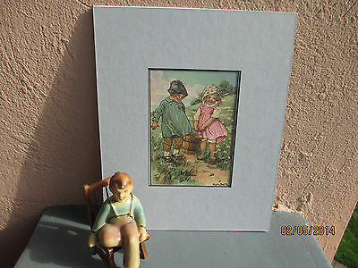 vintage illustration of Jack and Jill by Clara Burd 1918
