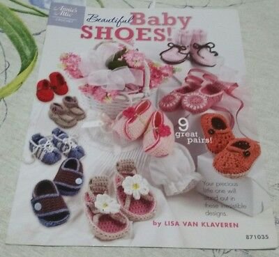 Beautiful Baby Shoes - Annie's Attic crochet patterns for 9 pairs of shoes