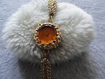 Vintage Wind Up FashionTime 17 Jewels Necklace Pendant Watch