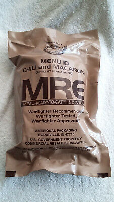 Mre U.s Ration Pack Menu 10, Camping, Hiking, Fishing,airsoft,survival.