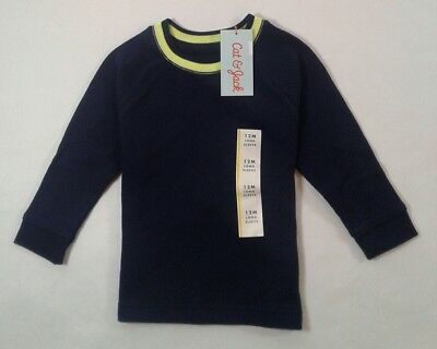 Boys Toddler Cat Jack Long Sleeve Thermal Shirt Size 12 Month Cotton 1787
