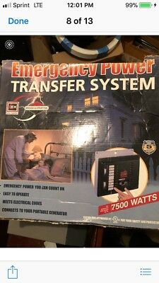 Briggs & Stratton 7500 Watt Emergency Generator Transfer Switch Power Kit Backup