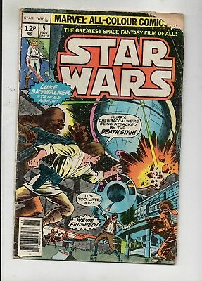 Star Wars Vol 1 # 5 / Marvel 1977 / V.good / Roy Thomas & Howard Chaykin.