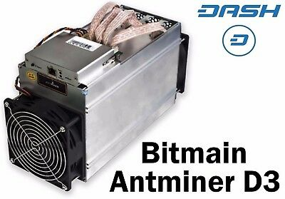 1x Bitmain Antminer D3 19.3GH + PSU (APW3++) Brand new inbox. Taxes paid. Sydney