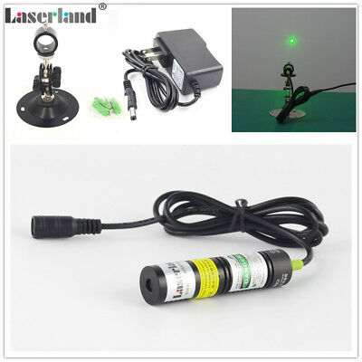 18*75mm 20mW 30mW 532nm Green Dot Diode Laser Module w/ AC-DC Adapter + Mount