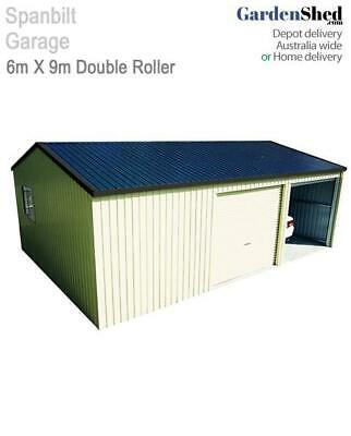 Spanbilt Double Garage with Workshop 6m x 9m - 2.4m Wall
