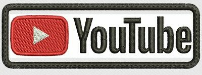**LOVE IT OR ITS FREE** You Tube Complete Embroidered Patch - Iron On / Sew On