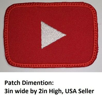**LOVE IT OR ITS FREE** You Tube RECTANGLE  LOGO Embroidered Patch -