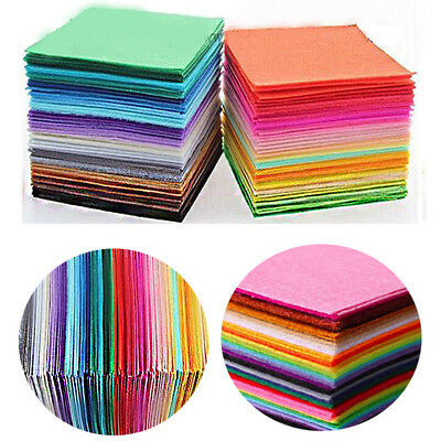 40pcs Crafts Dolls Sewing Bundle Felt Fabric Polyester Cloth Non Woven 15x15cm