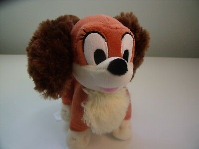 Disney Store Lady And The Tramp Soft Toy Puppy Dog Approx 7 Inches Long