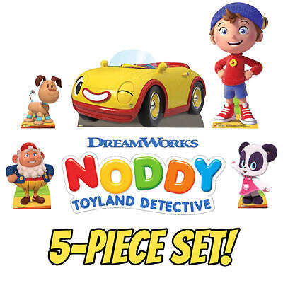 NODDY TOYLAND DETECTIVE 5-Piece Set of CARDBOARD CUTOUT Standups Standees F/S