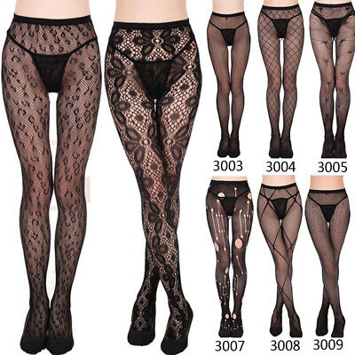Women Sexy/Sheer Black Lace Fishnet Hollow Patterned Pantyhose Tights Stocking