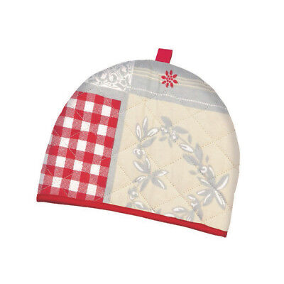 Stow Green Nordic Patchwork Tea Cosy Teapot Warmer Holder Red Love Hearts