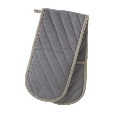 Stow Green Smithfield Grey Double Oven Glove Mitt Pot Holder Traditional Chefs