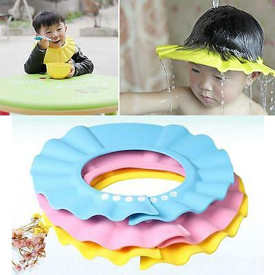 Baby Kid Toddler Adjustable Hair Wash Hat Shampoo Bathing Shower Eyes Shield FZ