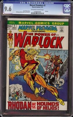 Marvel Premiere # 2 CGC 9.6 OW/White (Marvel, 1972) Warlock appearance