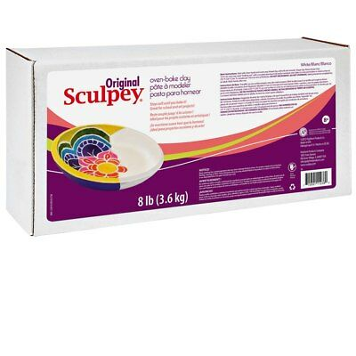 Original Sculpey Polymer Clay 8lb White - BEST VALUE IN EUROPE - Fresh Clay FIMO
