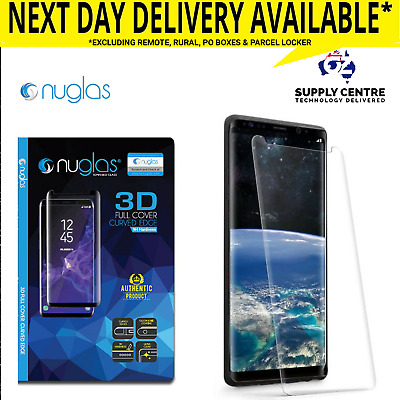 Samsung Galaxy S9 Plus Note 9 8 NUGLAS Screen Protector Tempered Glass Full 3D