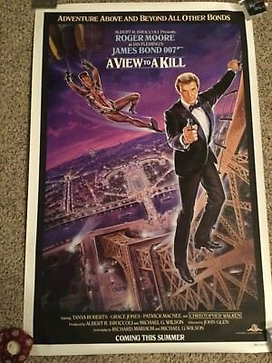 James Bond 1985 A View To A Kill 27x41 Rolled NSS One-Sheet Teaser Poster