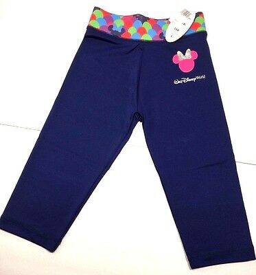 Disney Girls Yoga Stretch Pants Blue Pink  Minnie Mouse Leggings NWT