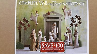 Demdaco Willow Tree Nativity - Exclusive Collection 19 Piece Set /w Angels