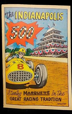1957 INDIANAPOLIS 500 * MARQUETTE Program COMIC / MAGAZINE * (UNTOUCHED) INDY