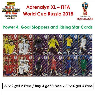 Adrenalyn XL - World Cup Russia 2018: Power 4, Goal Stoppers & Rising Star Cards