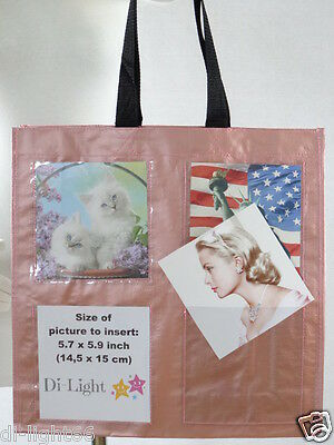 PROMOTIONAL PHOTO BRAG BAG photo tote -add your own 8 (product) photos, ads etc.