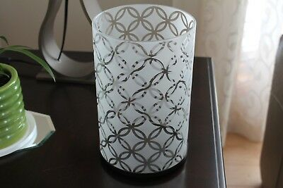 Partylite Candle Holder 2 piece large with frosted glass pattern. NO BOX