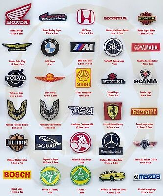 Motor brands and Motors sports badge iron on sew on Embroidered Patch