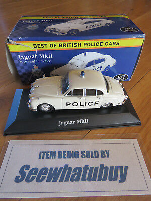 Atlas Model Jaguar MKII 1968 Police Car 1/43 Scale Best of British BEDFORDSHIRE