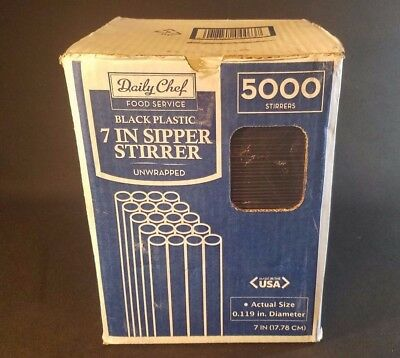 NEW In Box Daily Chef 7in/5000ct Bakers & Chef's Sipper Stirrers Restaurant Bar