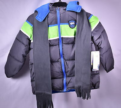 iXtreme Big Boys' Colorblock Winter Puffer Jacket - CHARCOAL