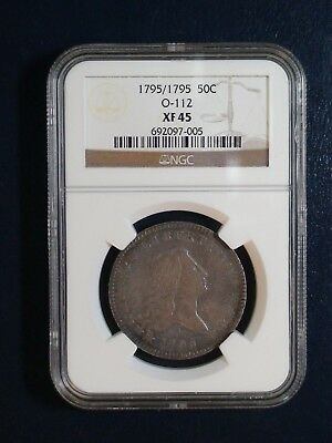 1795 FLOWING HAIR HALF DOLLAR NGC XF45 BEAUTIFUL SILVER 50C Coin PRICED TO SELL!