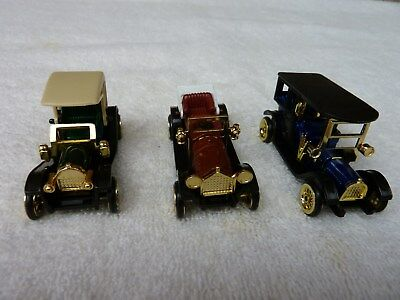 3 Vintage Antique Classic Style Die-cast Cars 1:64  High Speed