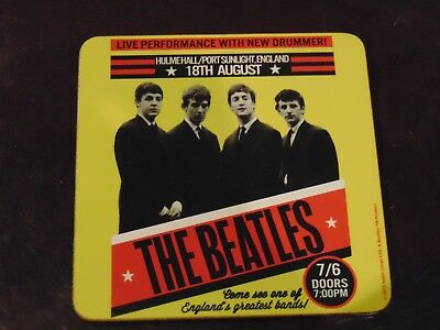 """The Beatles Live Performance with New Drummer Corkback Coaster 3 3/4"""" x 3 3/4"""""""