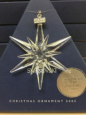 New 2005 Swarovski Crystal Annual Christmas Ornament Large