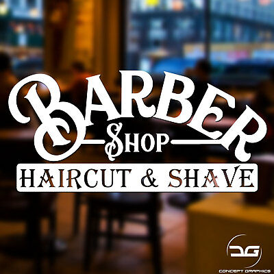 Barber Shop Hair Salon Window Door Vinyl Decal Sticker Sign Graphic Display