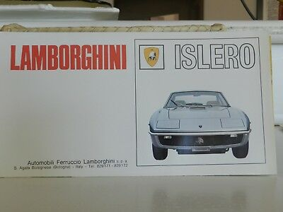 LamborghiniI islero Factory Sales Brochure Folds Out Into Poster Picture